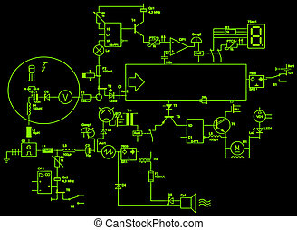 abstract electrical circuit