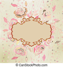 Abstract elegance pattern with floral. EPS 8