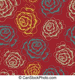 Abstract Elegance Seamless pattern with floral background - Vector