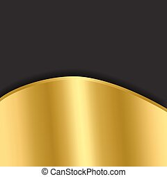 elegant black with a gold background