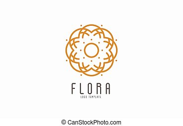 Abstract elegant flower logo icon vector design. Universal...