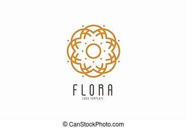 Abstract elegant flower logo icon vector design. Universal ...
