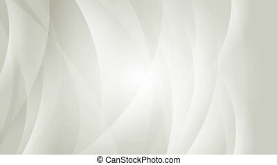 Abstract elegant grey waves video animation - Abstract...