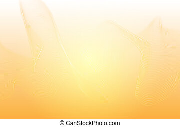 Abstract elegant orange background with flowing lines wave