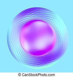 Abstract Elegant Purple Turquoise Metallic Button