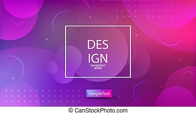 Abstract elegant purple with pink color design with a set of circles