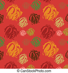 Abstract elements on rose backgroun