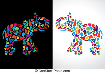 Abstract Elephant Vector Illustrati