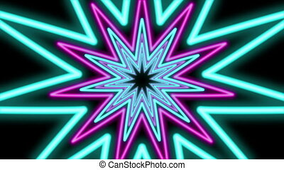 """Abstract Eleven Pointed Star Tunnel"""
