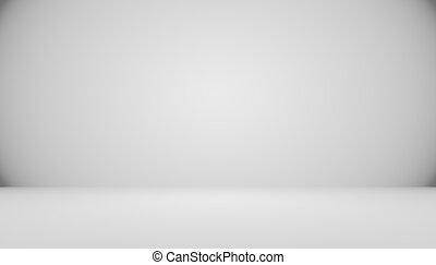 Abstract Empty Dark White Grey gradient with Black solid vignett