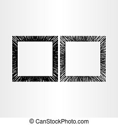abstract empty frame vector black background