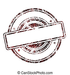 Abstract empty grunge rubber stamp