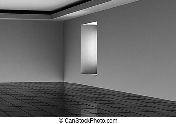 Abstract empty room 3d render