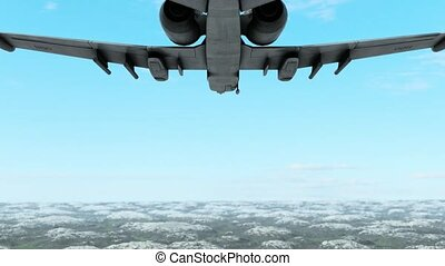abstract enemy aeroplanes flyght - high quality 3d animation