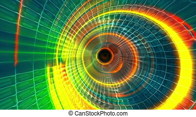 Abstract energy color tunnel motion