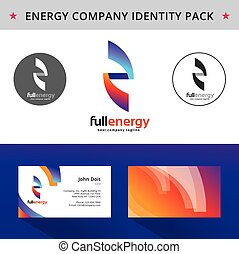 Abstract energy identity pack vector concept. Vizit cards, folder, cd, letter and other id blanks. Good for company branding set.