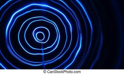 Abstract energy tunnel in space. Energy force fields tunnel in outer space