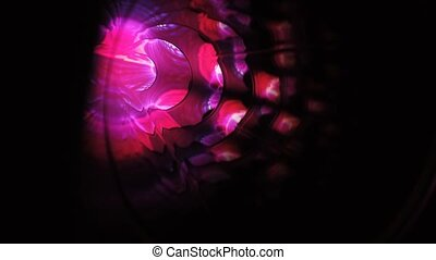 Abstract energy tunnel in space. Energy force fields tunnel in outer space. Portal of light
