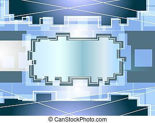 Abstract engineering blue backgroun