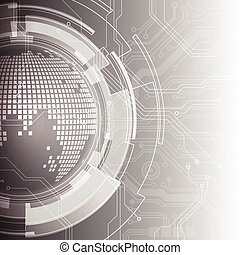 abstract engineering technology, vector background