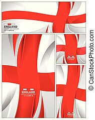 Abstract England Flag Background