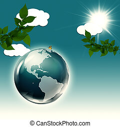 Abstract environmental backgrounds with Earth globe