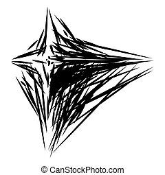 Abstract erratic formation made up with random lines. ...