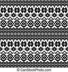 abstract ethic aztec seamless pattern