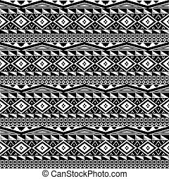 abstract ethnic aztec style seamless pattern