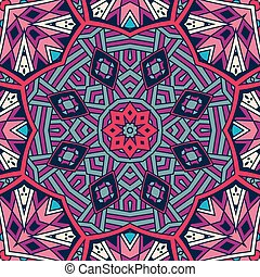 Abstract ethnic colorful mosaic  tribal pattern