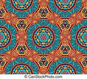 Abstract ethnic geometric pattern design