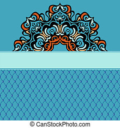 Abstract ethnic ornamental  background border