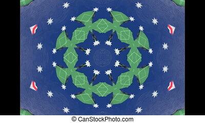 Abstract Ethnic pattern kaleidoscope - fabric design.