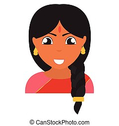 Abstract ethnic person
