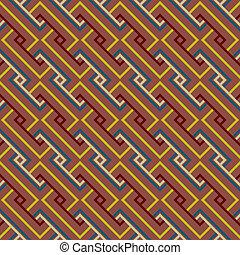Abstract Ethnic Seamless Geometric
