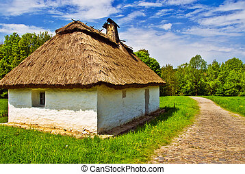 Abstract Ethnical Village House