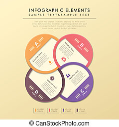 abstract, etiket, cirkel, infographics
