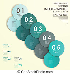 abstract, etiket, cirkel, infographics