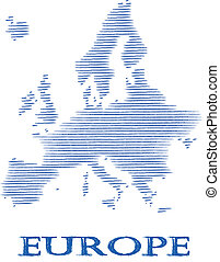 Abstract Europe silhouette.