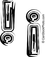 Abstract Exclamation mark