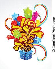 abstract exploade magic box