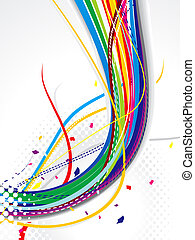 abstract explode weve backgorund vector illustration
