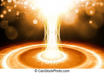 Abstract explosion - Abstract scientific background -...