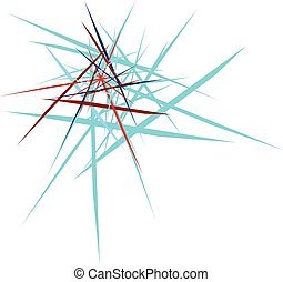 abstract explosion design blue and red on white background