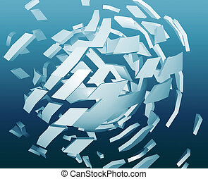 Abstract explosion illustration - Abstract background ...