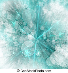 Abstract explosion turquiose and wh - abstract background...