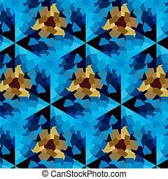 Abstract expressionism, fantastic blue stone background -...