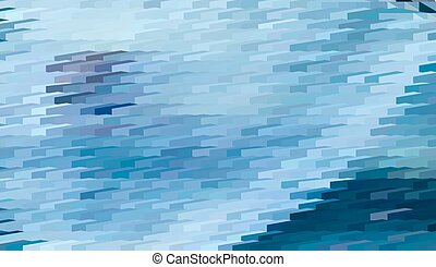 Abstract expressionism, fantastic blue landscape - Abstract...