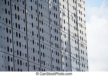 abstract exterior skyscraper building pattern