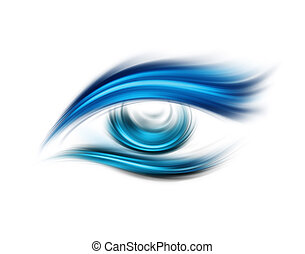 Abstract eye - Abstract blue eye on a white background